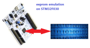 EEPROM emulation on STM32F030 (all developed using CUBE
