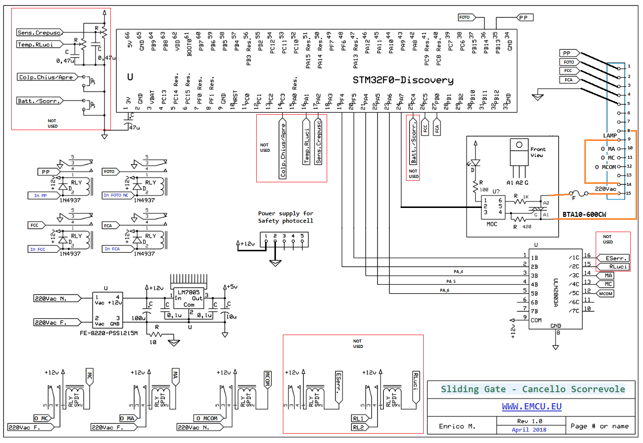 Electric Sliding Gate based on STM32F0-Discovery | EMCU