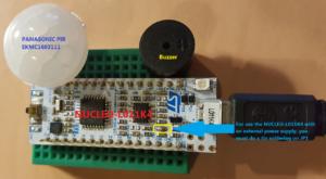 PIR sensor based on: NUCLEO-L011K4 + PANASONIC PIR EKMC1603111 | EMCU