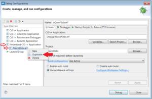 Atollic debug configuration for quick DOWNLOAD and RUN | EMCU