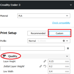 Configure Ultimaker CURA software for use the Creality 3D